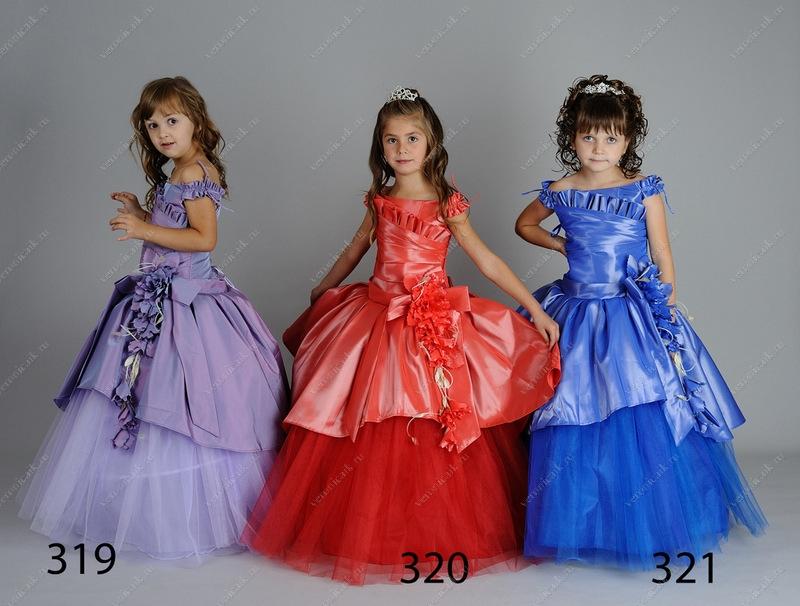Платье пышное для девочки.